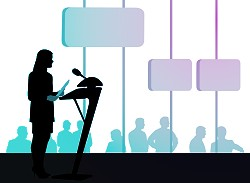 Character Illustration - Keynote Speaking 250x183
